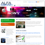 Alfa Computer Website Design