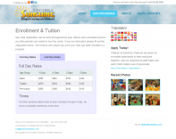 Sunshine Childcare Website