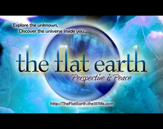 The Flat Earth postcards