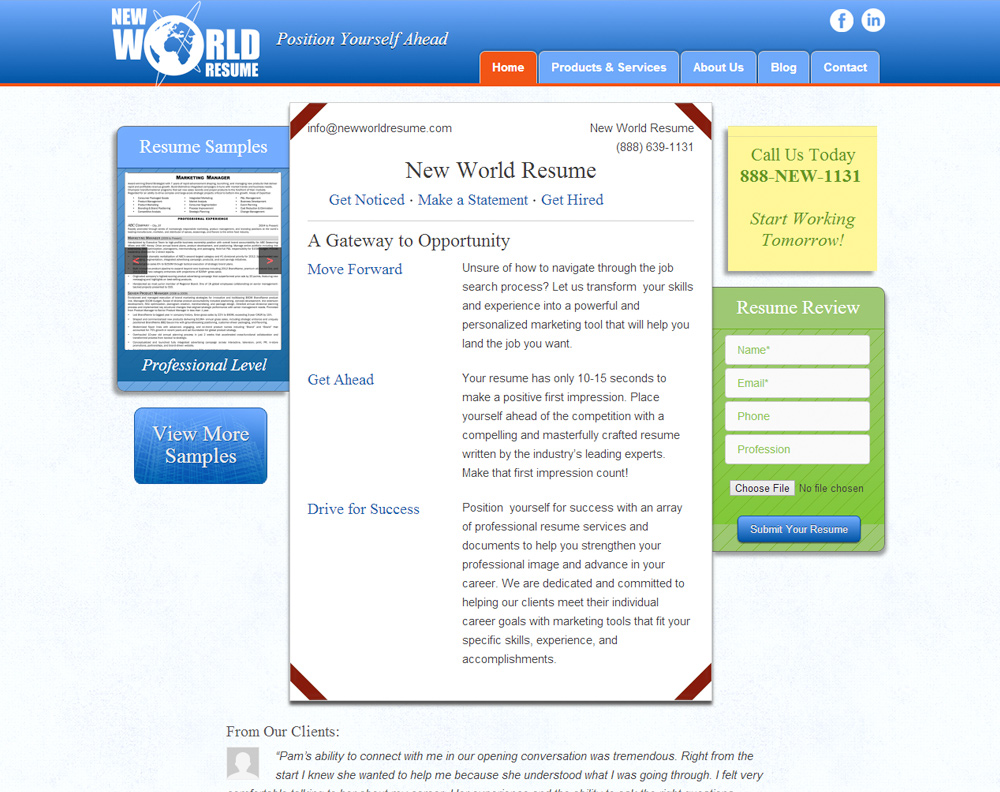 New World Resume Design