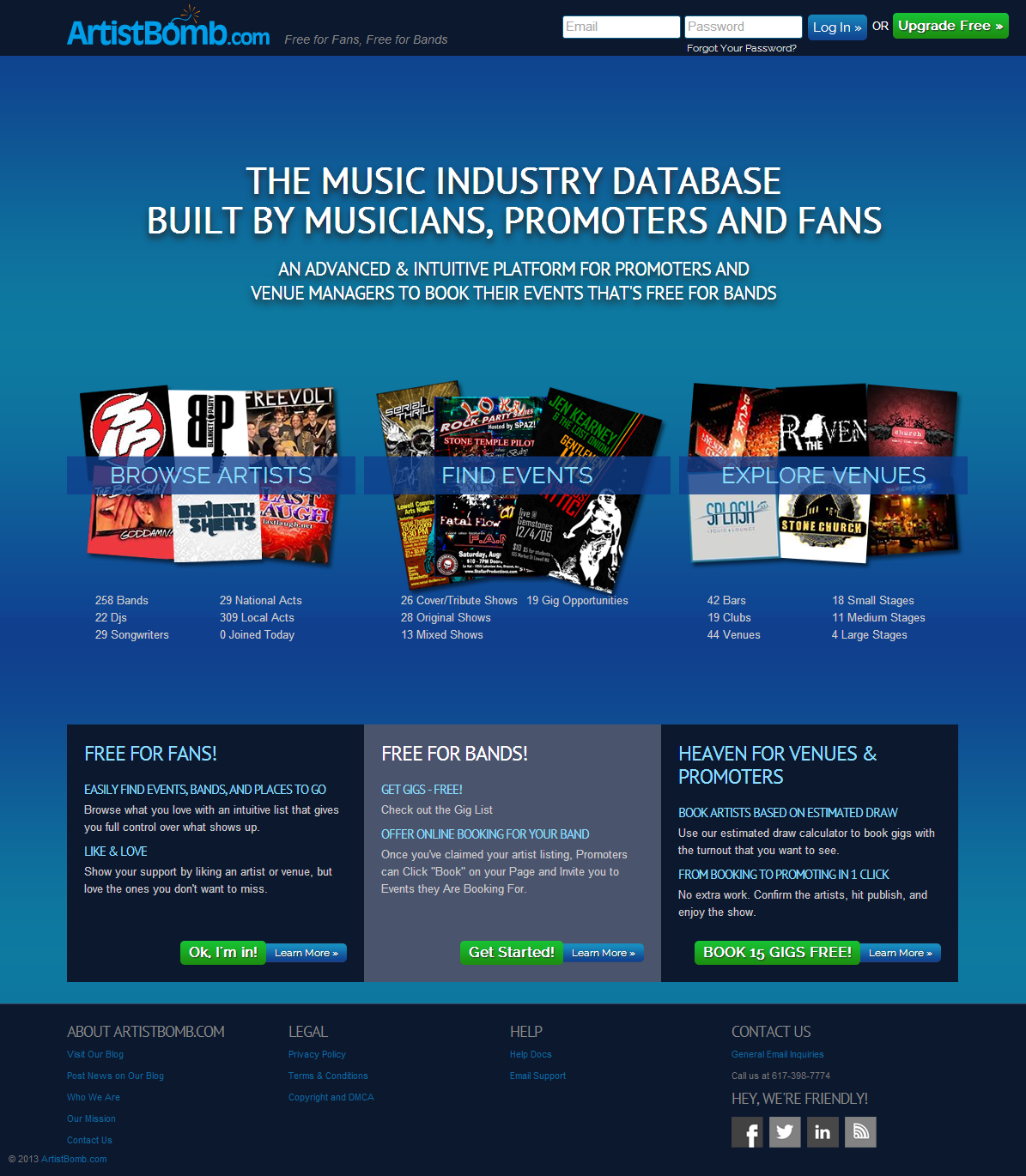 ArtistBomb.com The Music Industry Database