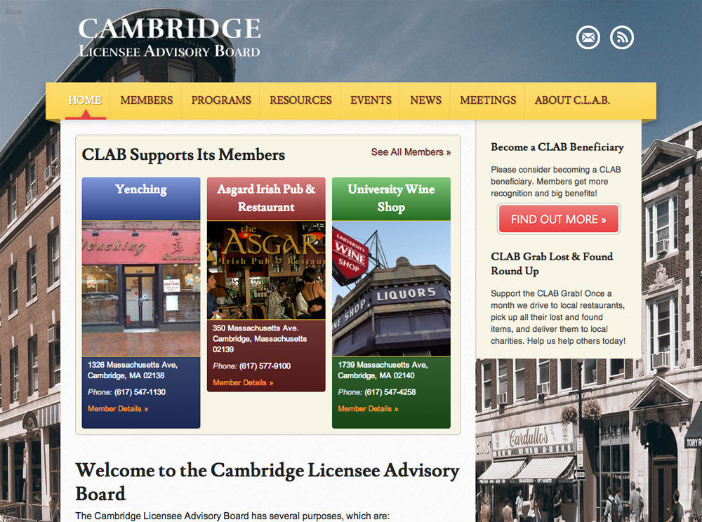 CLAB Home Page After