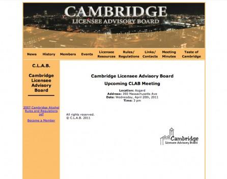 Cambridge Licensee Advisory Board Before