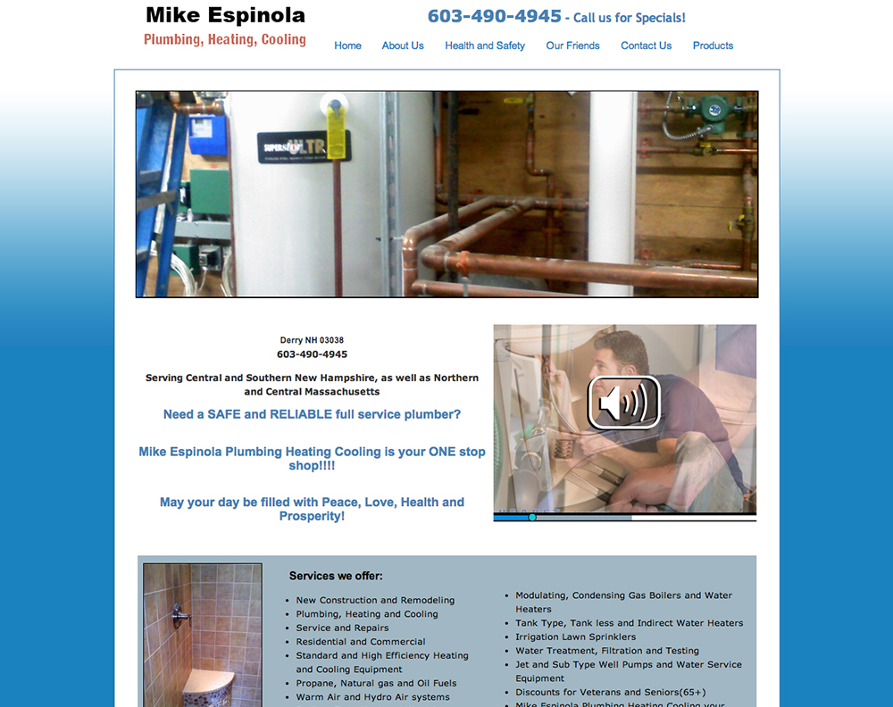 Mike Espinola Plumbing Before