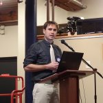 Brian Bahia speaking at the Lowell Social Media Conference 2014