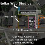 The Stellar Web Studios Headquarters is Open for Walk-Ins! 635 Rogers St, Unit #1, Lowell, MA 01852