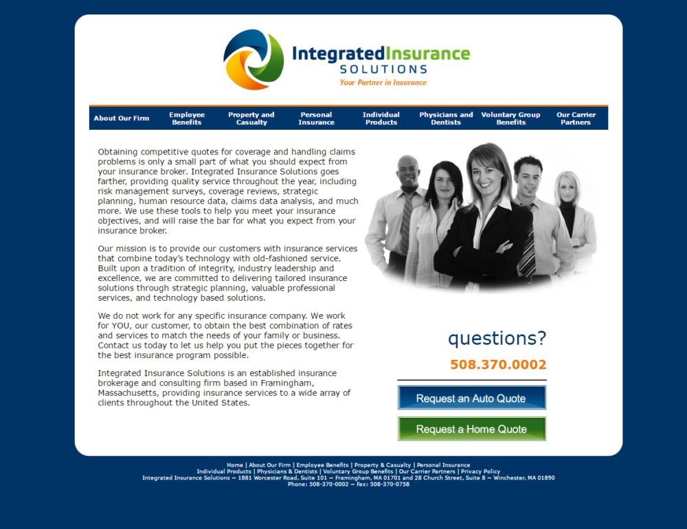 Integrated Insurance Agency Before
